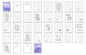 Beautiful Butterflies Journal Templates Digital Version
