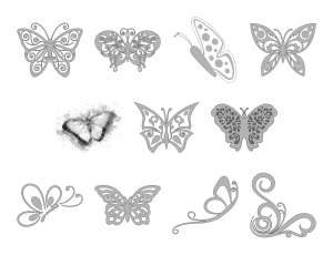 Beautiful Butterflies Journal Templates Journal Graphics Grayscale