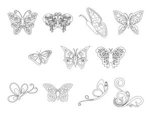 Beautiful Butterflies Journal Templates Journal Graphics Lineart