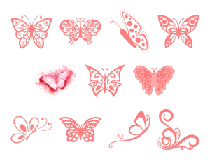 Beautiful Butterflies Journal Templates Journal Graphics Pink