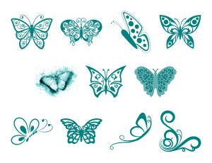 Beautiful Butterflies Journal Templates Journal Graphics Teal