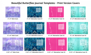 Beautiful Butterflies Journal Templates Print Version Covers