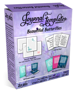 Beautiful Butterflies Journal Templates Product Cover