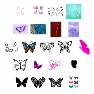 Beautiful Butterflies Journal Templates Royalty-Free Images