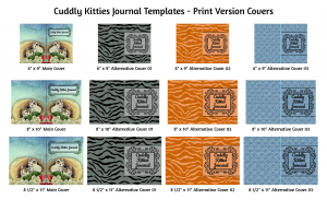 Cuddly Kitties Journal Template Print Version Covers