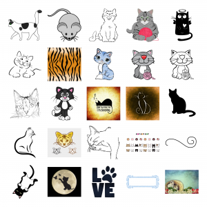 Cuddly Kitties Journal Template Royalty-Free Images