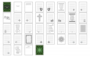 Irish Icons Journal Template Digital Version