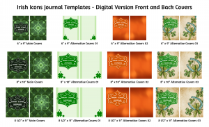 Irish Icons Journal Template Digital Version Covers