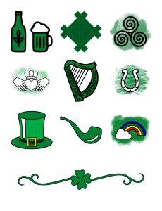 Irish Icons Journal Template Journal Graphics Green
