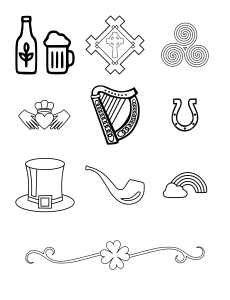 Irish Icons Journal Template Journal Graphics Lineart