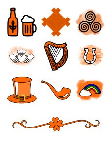 Irish Icons Journal Template Journal Graphics Orange
