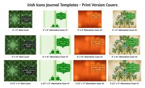 Irish Icons Journal Template Print Version Covers