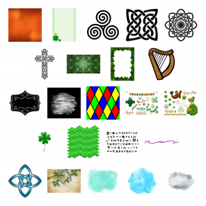 Irish Icons Journal Templates Royalty-Free Images