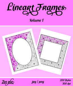 Lineart Frames Volume 1 Front Cover