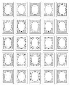 Lineart Frames Volume 1 Rectangle-Oval Frames All