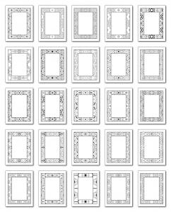 Lineart Frames Volume 1 Rectangle-Rectangle Frames All