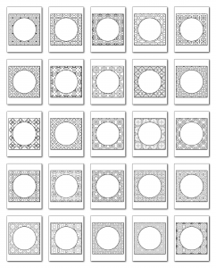 Lineart Frames Volume 1 Square-Circle Frames All