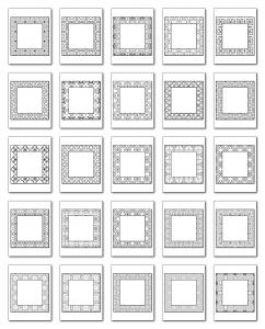 Lineart Frames Volume 1 Square-Square Frames All