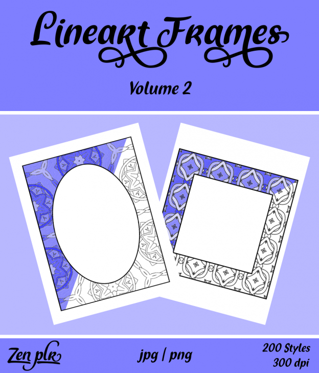 Lineart Frames Volume 2 Front Cover