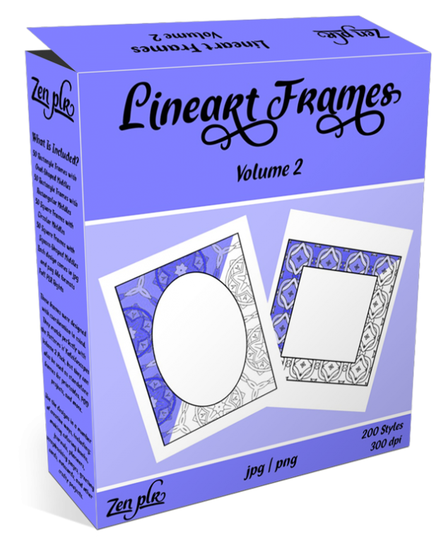 Lineart Frames Volume 2 Product Cover
