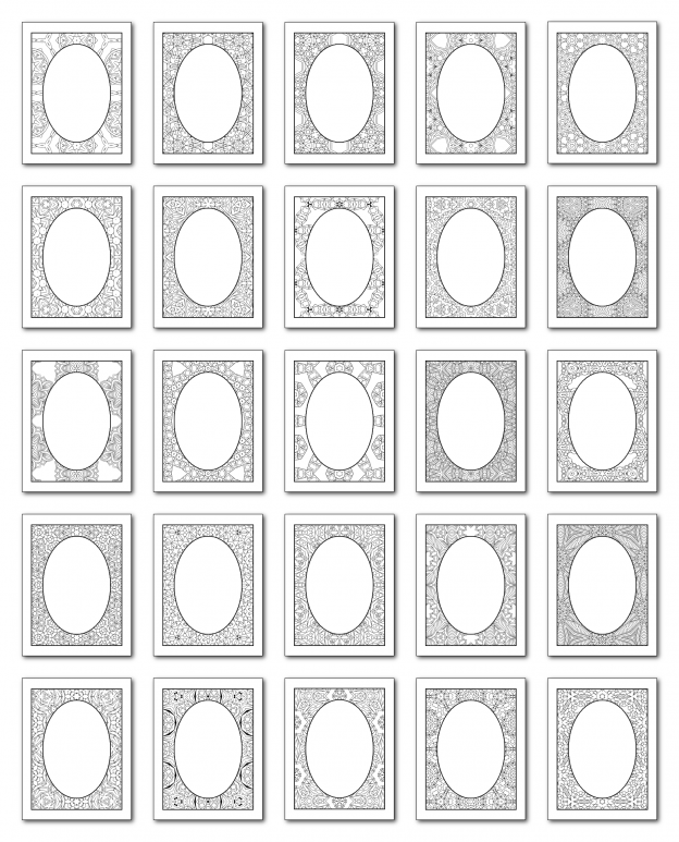 Lineart Frames Volume 2 Rectangle-Oval Frames All