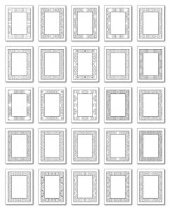 Lineart Frames Volume 2 Rectangle-Rectangle Frames All