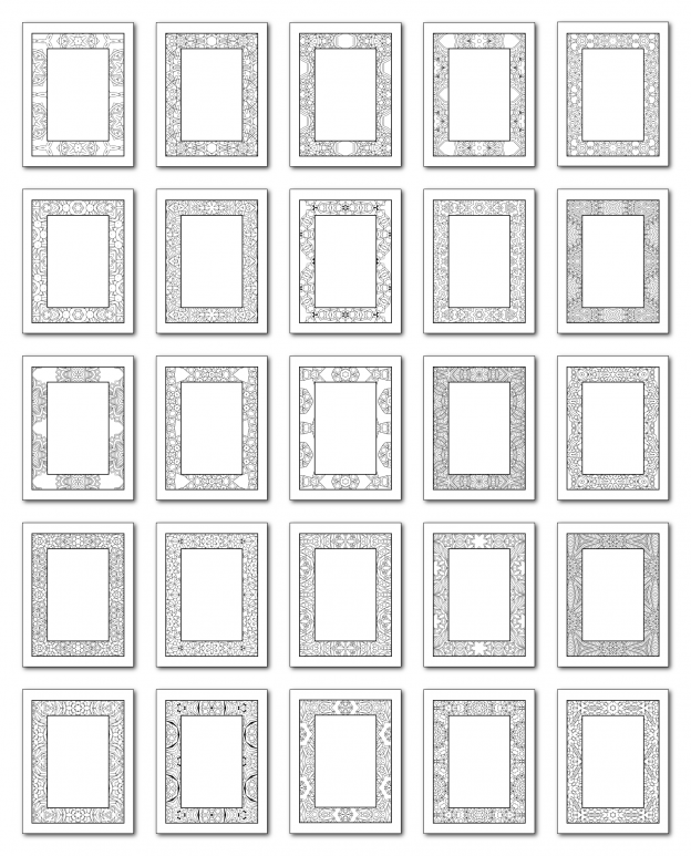 Lineart Frames Volume 2 Rectangle-Rectangle Frames All