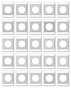 Lineart Frames Volume 2 Square-Circle Frames All