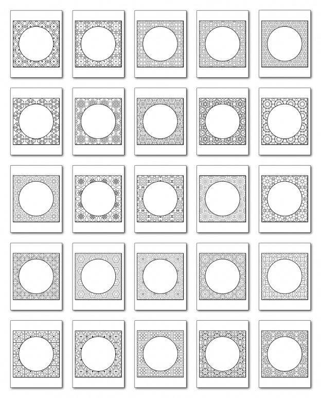 Lineart Frames Volume 2 Square-Circle Frames All