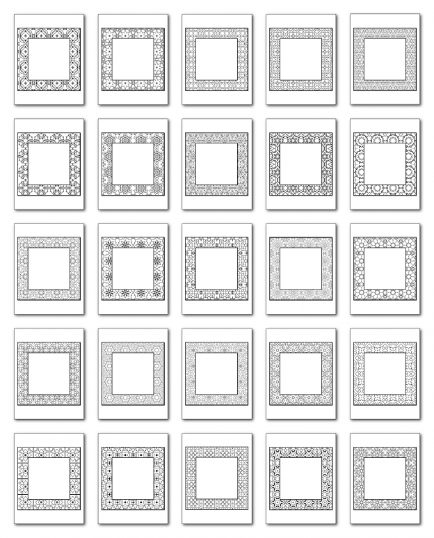 Lineart Frames Volume 2 Square-Square Frames All