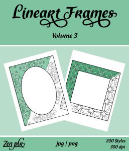 Lineart Frames Volume 3 Front Cover