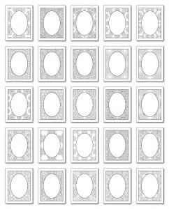Lineart Frames Volume 3 Rectangle-Oval Frames All