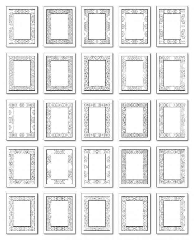 Lineart Frames Volume 3 Rectangle-Rectangle Frames All