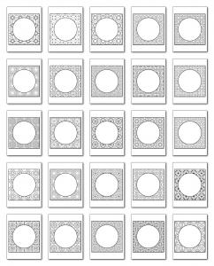 Lineart Frames Volume 3 Square-Circle Frames All