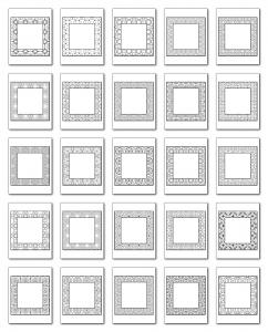 Lineart Frames Volume 3 Square-Square Frames All