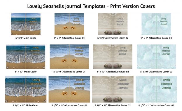 Lovely Seashells Journal Templates Print Version Covers