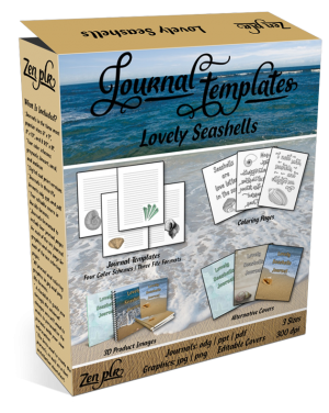 Lovely Seashells Journal Templates Product Cover