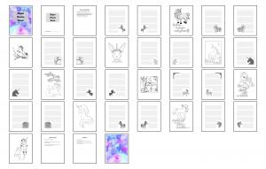 Magical Unicorns Journal Template Digital Version