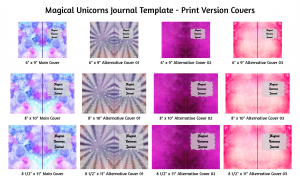 Magical Unicorns Journal Template Print Version Covers