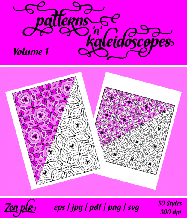 Patterns 'n' Kaleidoscopes Volume 1 Front Cover