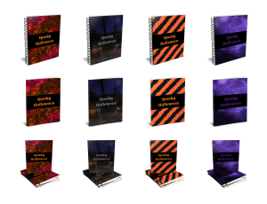 Spooky Halloween Journal Templates 3D Product Images