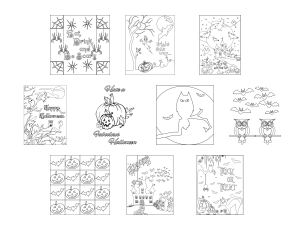Spooky Halloween Journal Templates Coloring Page Graphics