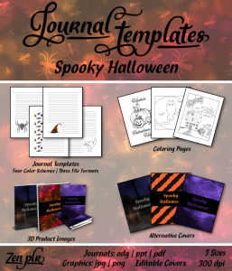 Spooky Halloween Journal Templates Front Cover