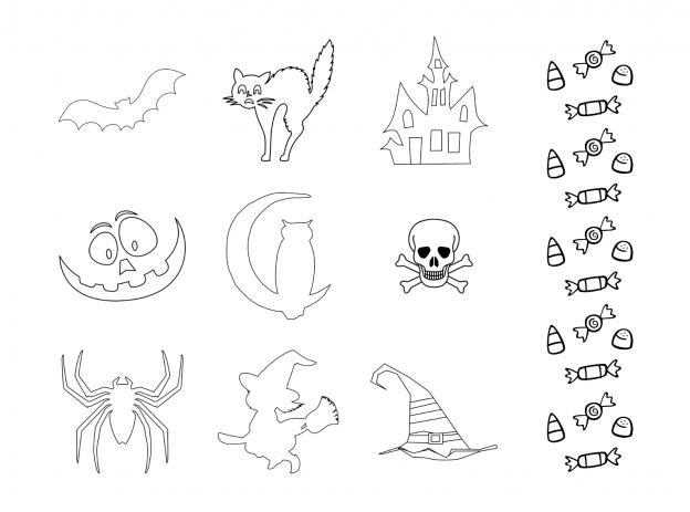 Spooky Halloween Journal Templates Journal Graphics Lineart