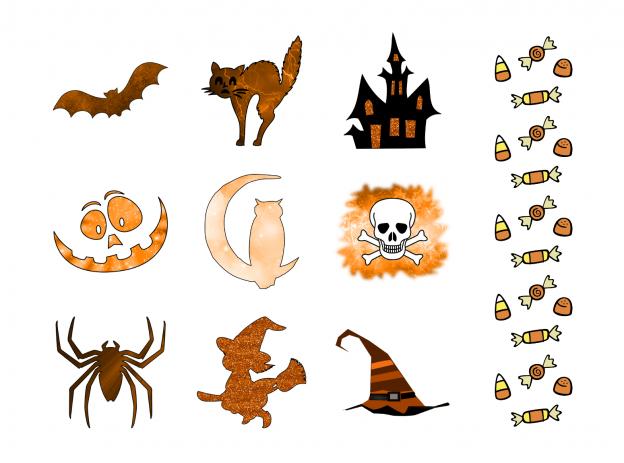Spooky Halloween Journal Templates Journal Graphics Orange