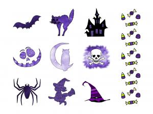 Spooky Halloween Journal Templates Journal Graphics Purple