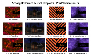 Spooky Halloween Journal Templates Print Version Covers