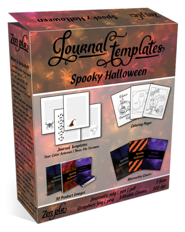 Spooky Halloween Journal Templates Product Cover