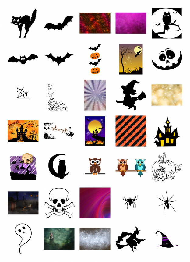 Spooky Halloween Journal Templates Royalty-Free Images