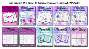 The Unicorn PLR Suite Product Graphic